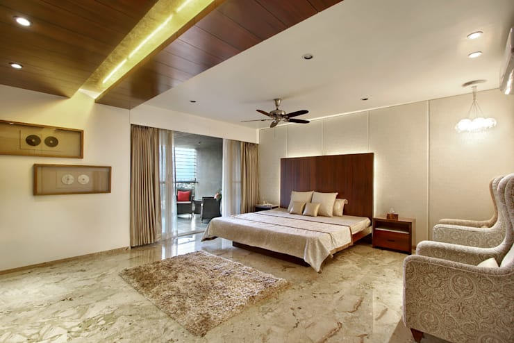 Nikhil patel residence: modern Bedroom by Dipen Gada & Associates
