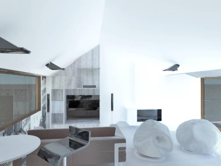 Proyecto Casa Chicó: Salas de estilo moderno por ARQFACTORY FIRMA DE ARQUITECTURA