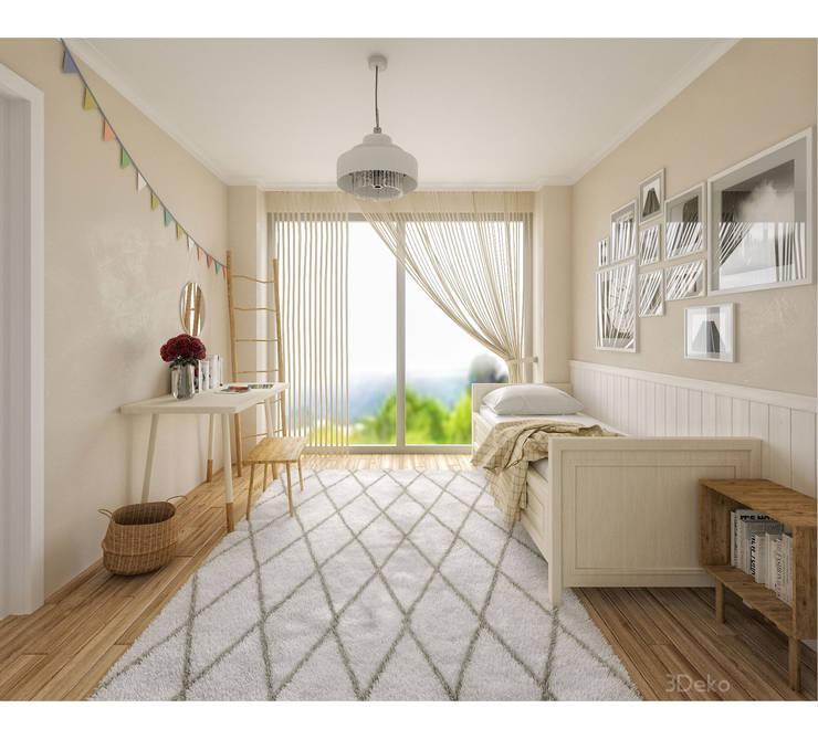 Habitacion en 3D: Recámaras de estilo  por 3Deko