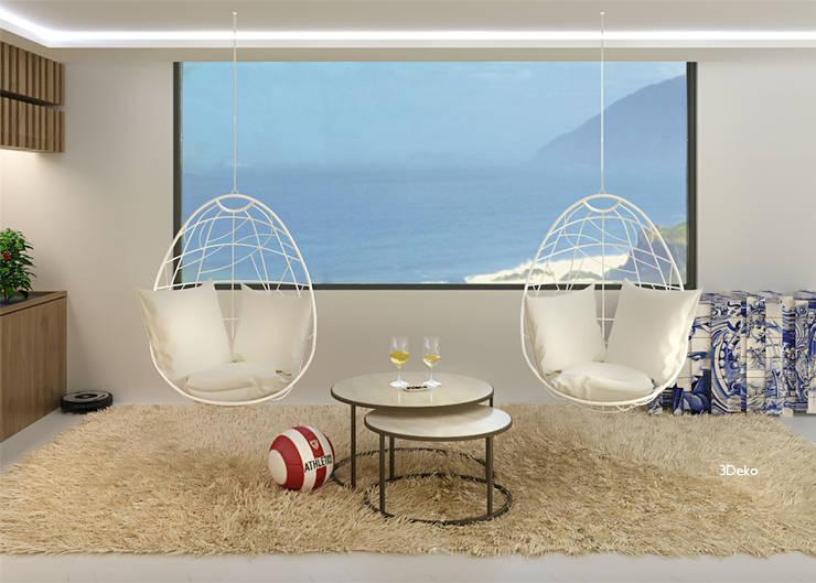 Salón en 3D: Comedores de estilo  por 3Deko