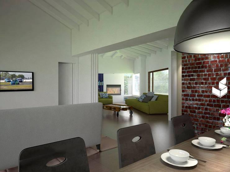 Comedor: Livings de estilo  por Ignacio Tolosa Arquitectura,