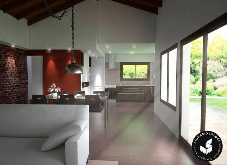 Comedor: Comedores de estilo  por Ignacio Tolosa Arquitectura,
