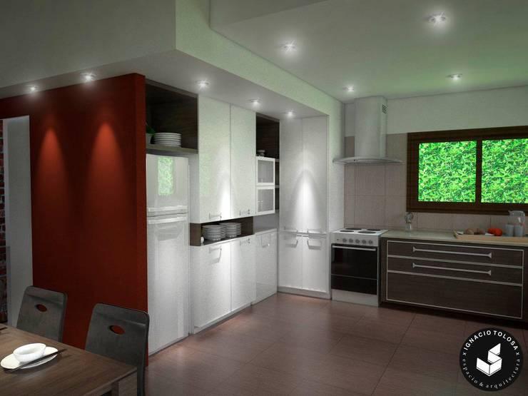Diseño de mobiliario cocina: Cocinas de estilo  por Ignacio Tolosa Arquitectura,