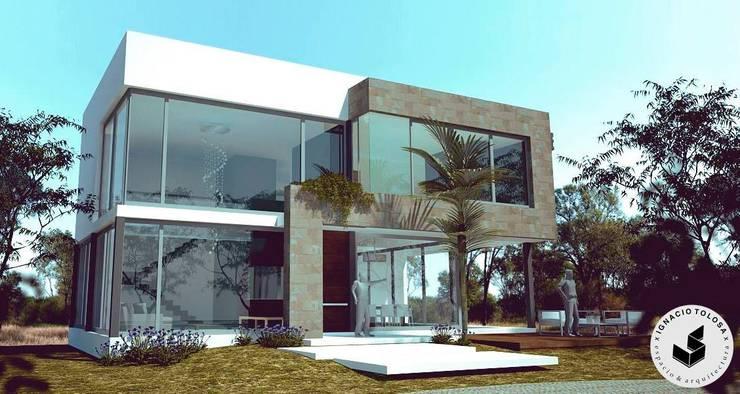 Vivienda Unifamiliar: Casas de estilo  por Ignacio Tolosa Arquitectura