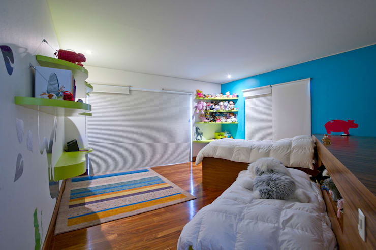 Casa Aport : Recámaras infantiles de estilo  por DIN Interiorismo
