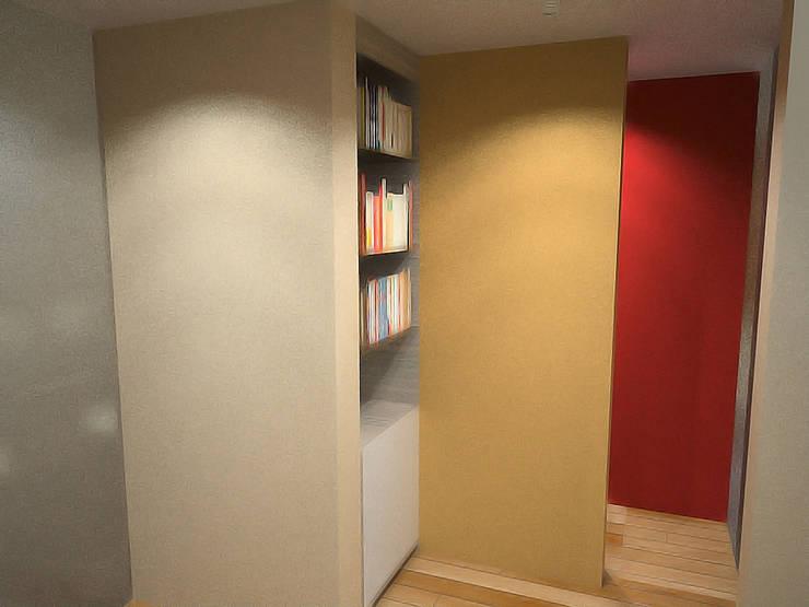 Casa Luju : Pasillos y recibidores de estilo  por DIN Interiorismo