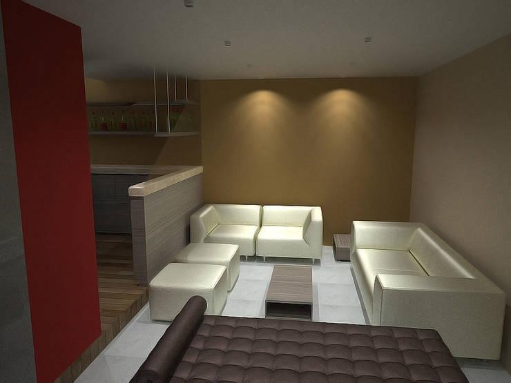 Casa Luju : Salas de estilo  por DIN Interiorismo