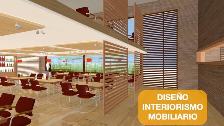 Espacios de oficina y trabajo Bogota: Edificios de oficinas de estilo  por  Arquitectura Modular Residencial Comercial Interiorismo,