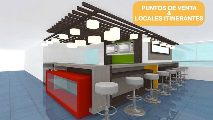 Arquitectura modular y espacios móviles bogota: Centros comerciales de estilo  por  Arquitectura Modular Residencial Comercial Interiorismo,