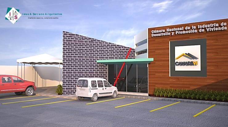 Oficinas CANADEVI: Oficinas y tiendas de estilo  por ISLAS & SERRANO ARQUITECTOS