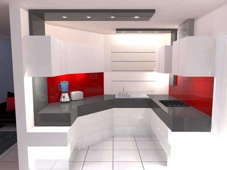 VISTA 1: Cocina de estilo  por ROJAS Arquitectura Diferente