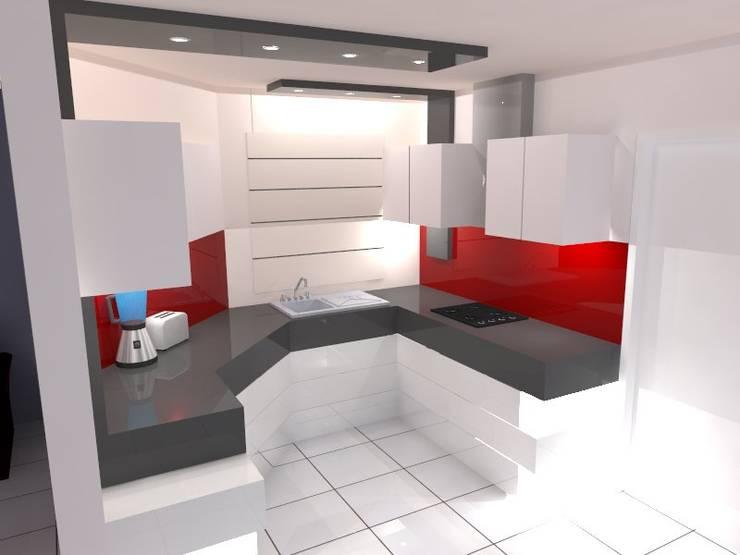 VISTA 3: Cocina de estilo  por ROJAS Arquitectura Diferente