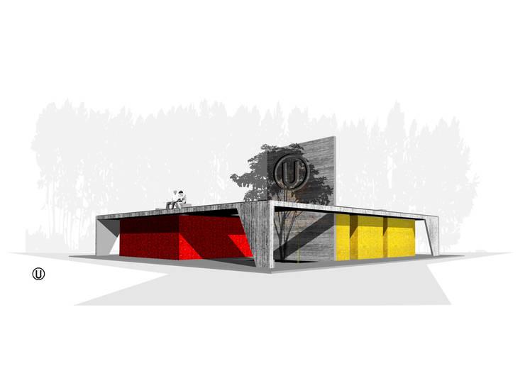 Vista Frontal:  de estilo  por NIKOLAS BRICEÑO arquitecto, Moderno