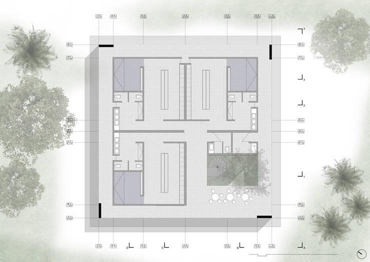 Planta Base:  de estilo  por NIKOLAS BRICEÑO arquitecto, Moderno