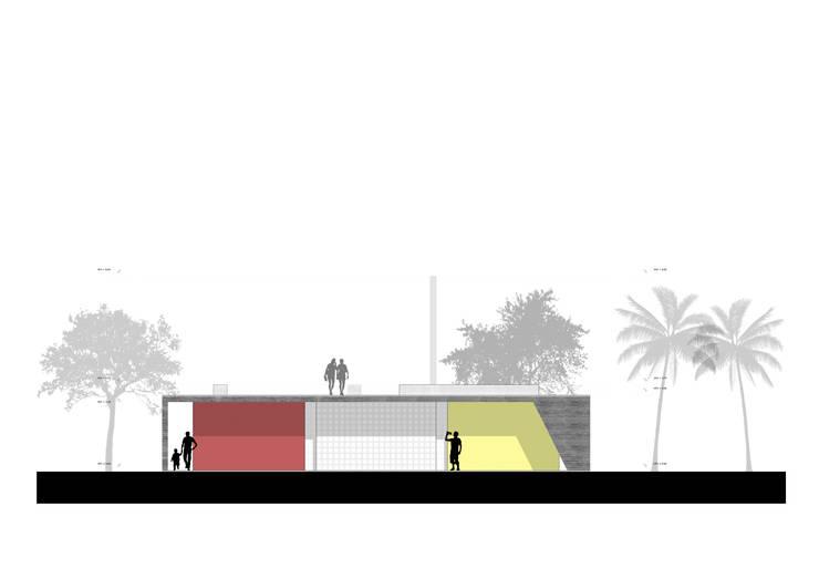 Elevacion:  de estilo  por NIKOLAS BRICEÑO arquitecto, Moderno