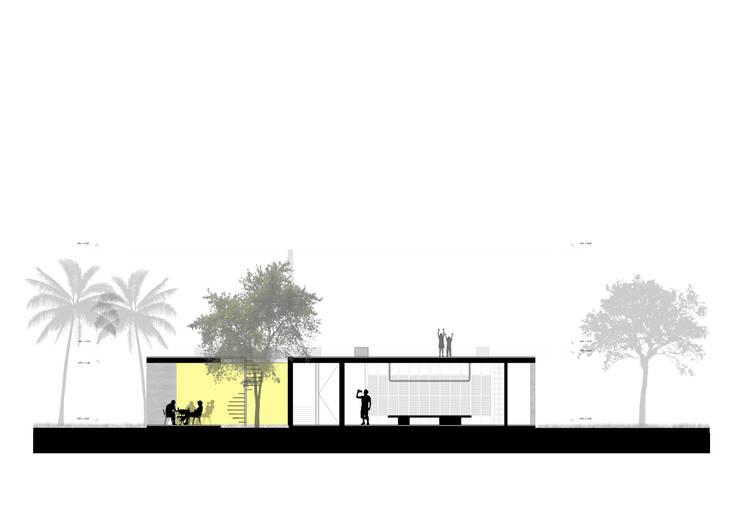 Corte Esquematico:  de estilo  por NIKOLAS BRICEÑO arquitecto
