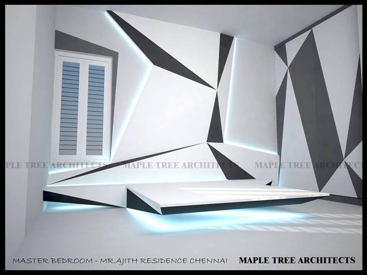 MASTER BEDROOM:  Bedroom by MAPLE TREE