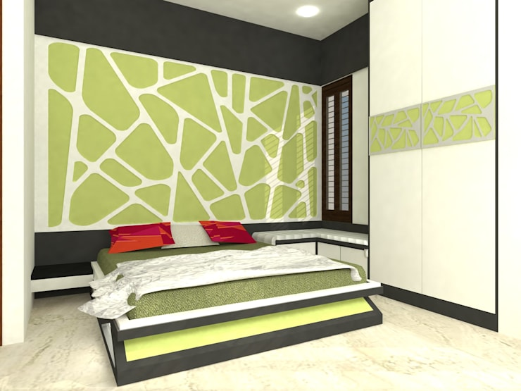 Mr.Ajith Residence: modern Bedroom by MAPLE TREE