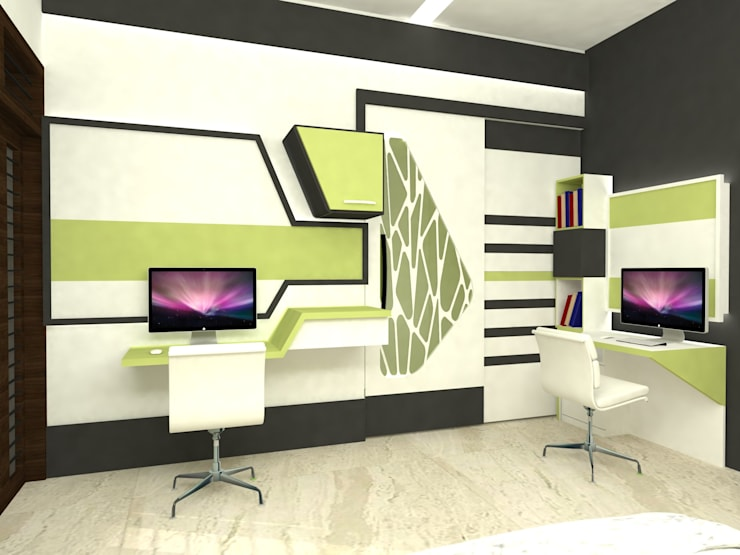 Mr.Ajith Residence:  Bedroom by MAPLE TREE
