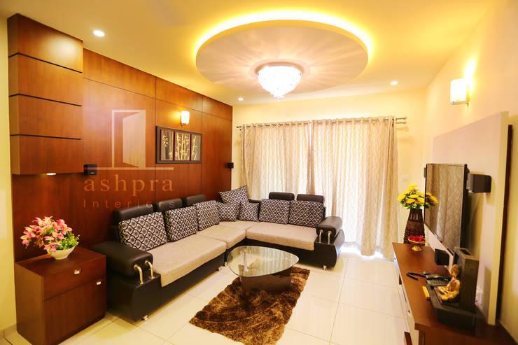 Living: asian Living room by Ashpra interiors