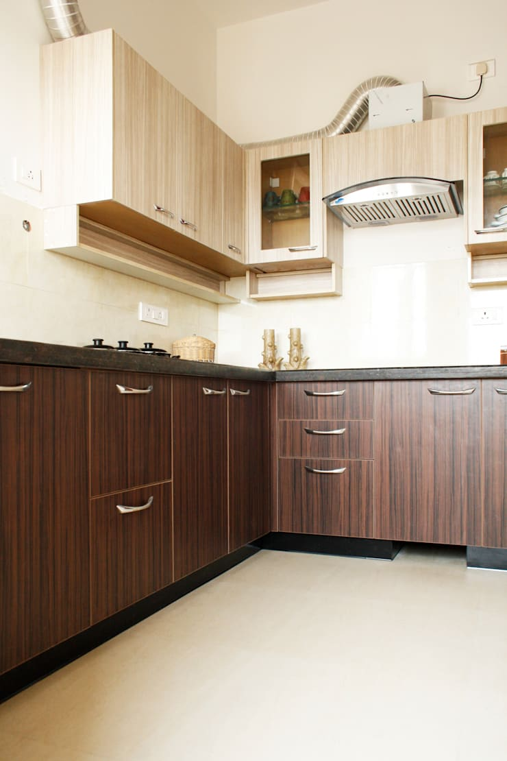 Kitchen 2: asian Kitchen by Ashpra interiors