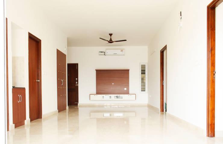 Living : asian Living room by Ashpra interiors