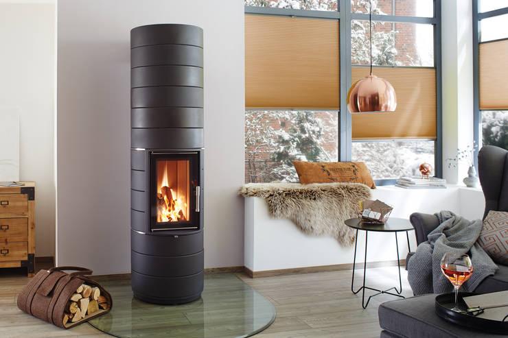 Salas de estar modernas por wohnfeuer