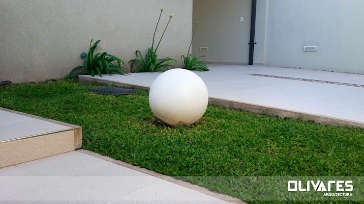 Vivienda 505: Jardines de estilo  por Arq Olivares,Moderno