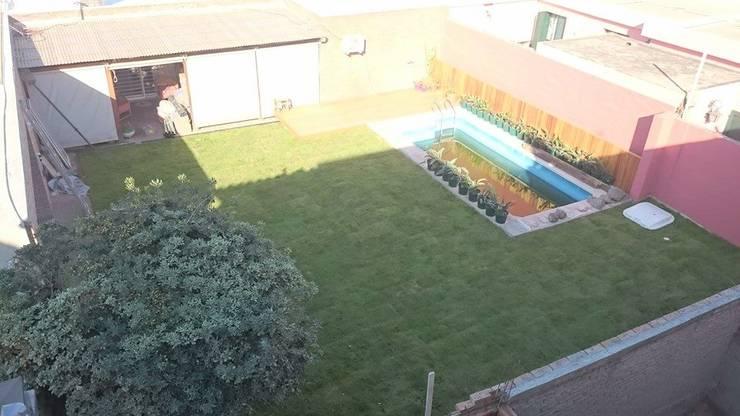 Casa Jardín: Jardines de estilo  por Lucas Rubio Arquitecto,