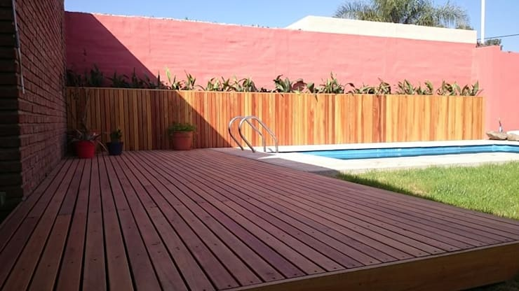 Casa Jardín: Piletas de estilo  por Lucas Rubio Arquitecto