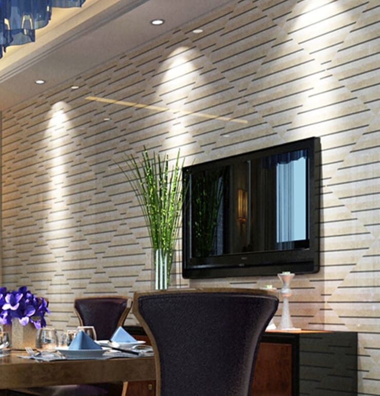 Water Jet Mosaics in Various China Projects:  Dining room by ShellShock Designs,