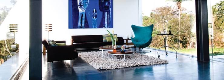 Microcemento / Cemento alisado Livings modernos: Ideas, imágenes y decoración de Grupo EDFAN Moderno