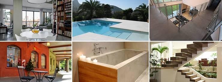Microcemento / Cemento alisado Balcones y terrazas modernos: Ideas, imágenes y decoración de Grupo EDFAN Moderno