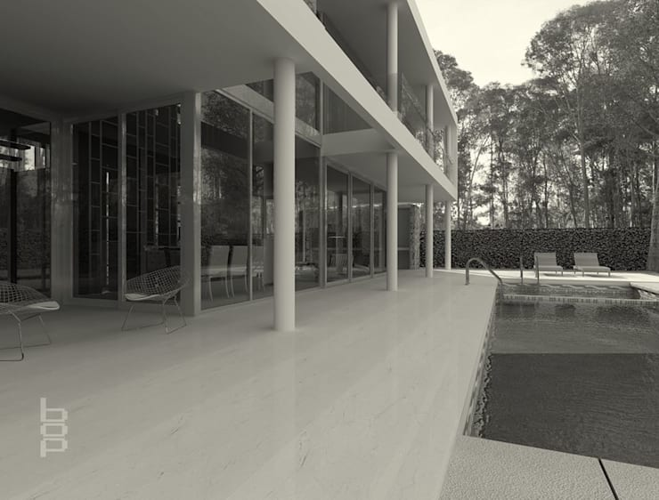 Vivienda en Barrio Privado - Proyecto en Curso:  de estilo  por bop arquitectura,
