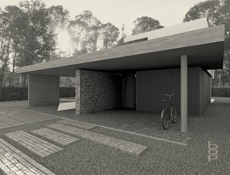 Vivienda en Barrio Privado – Proyecto en Curso:  de estilo  por bop arquitectura,