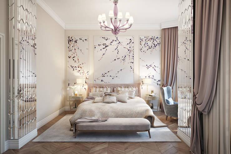 غرفة نوم تنفيذ Александра Клямурис