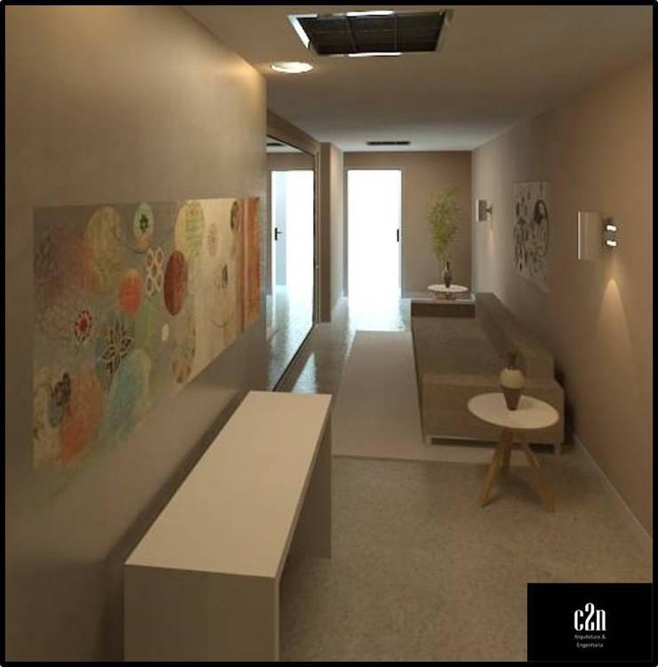 Livings de estilo moderno de C2N Arquitetura & Engenharia Moderno
