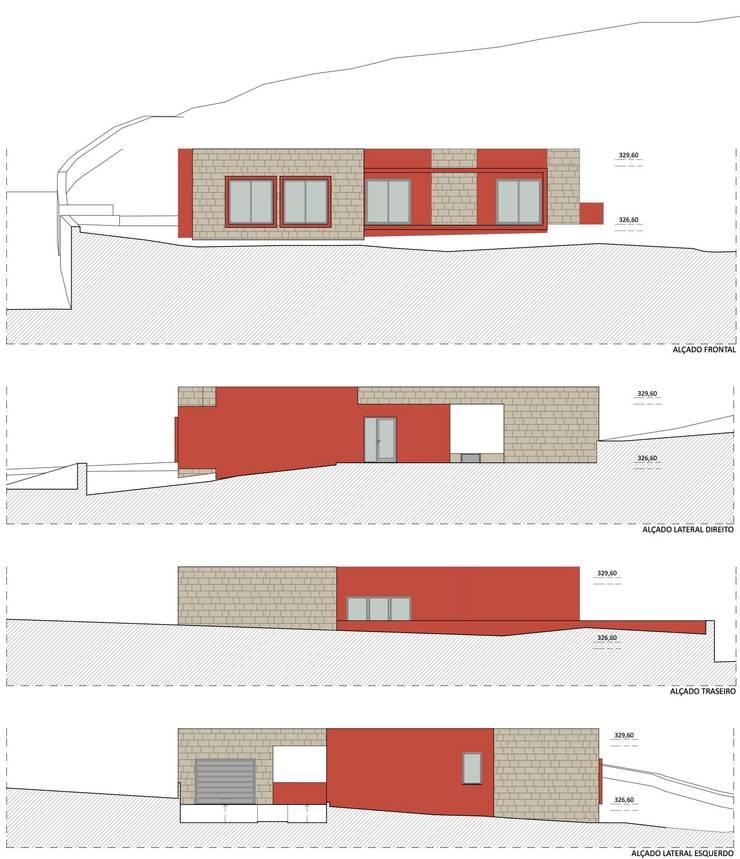 Alçados:   por M+ARQ | Arquitectura