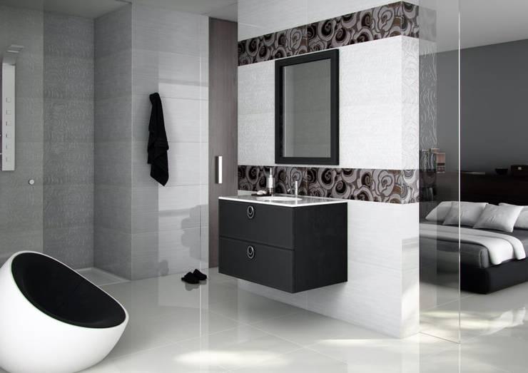 Nero Seta: Baños de estilo  por Lateral3D