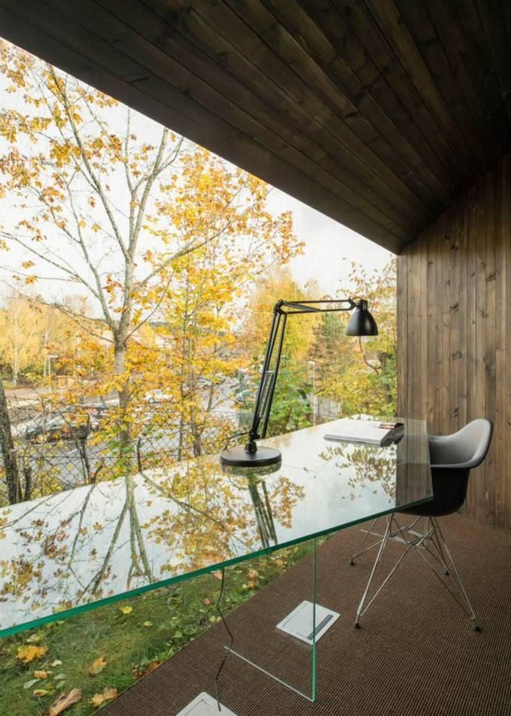 Optimización de los espacios: Estudios y oficinas de estilo  por Ace Disegno