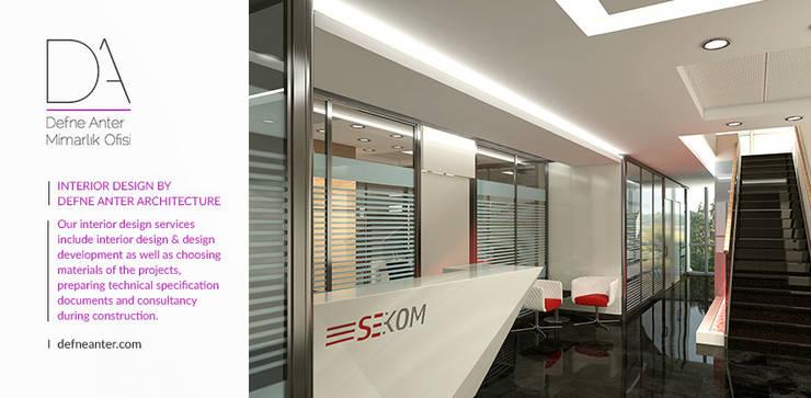 Moderne Bürogebäude von Defne Anter Mimarlik Modern