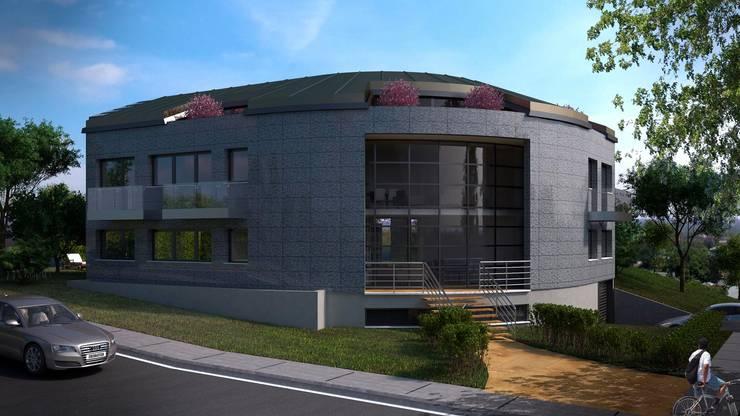 Defne Anter Mimarlik – Doğa Limited Ofis Binası:  tarz Ofis Alanları, Modern