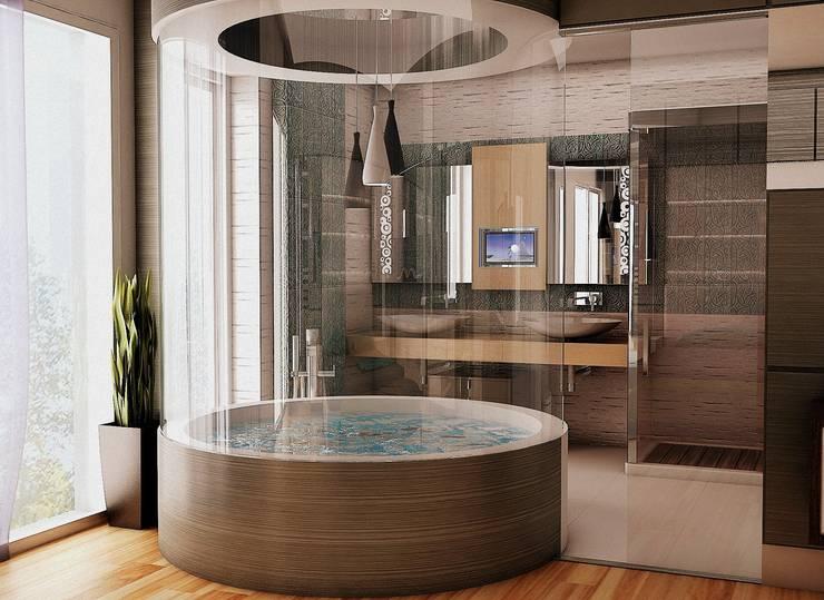 Ванные комнаты в . Автор – GOLD YAPI DEKORASYON - İÇ MİMARLIK TASARIM VE PROJE