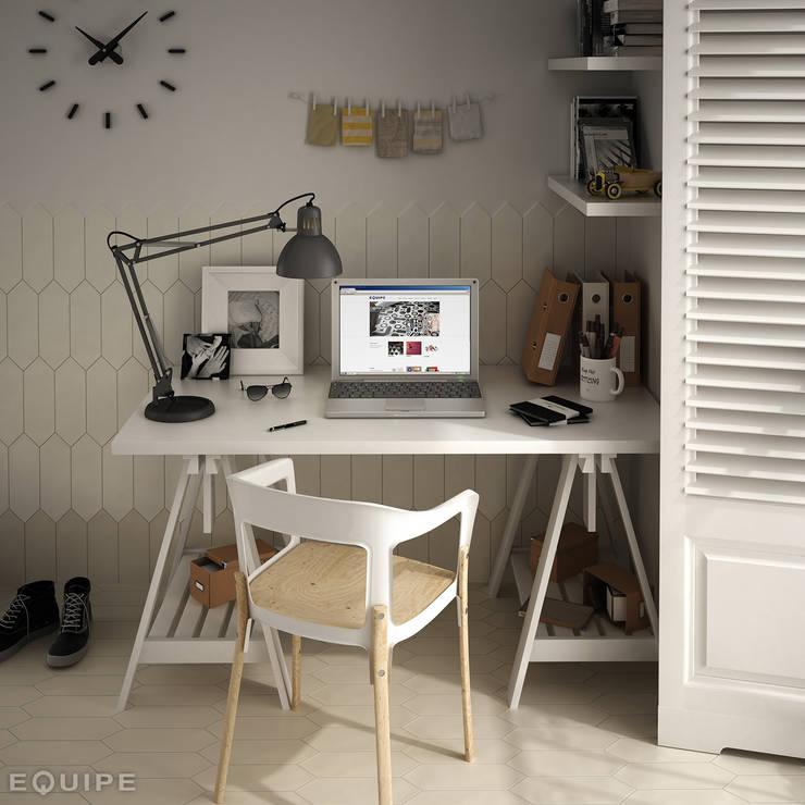 Equipe Ceramicas의  서재 & 사무실