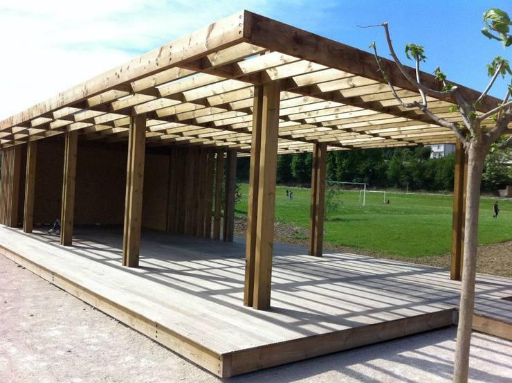 Pergola structure: Jardin de style  par greenfrog garden design