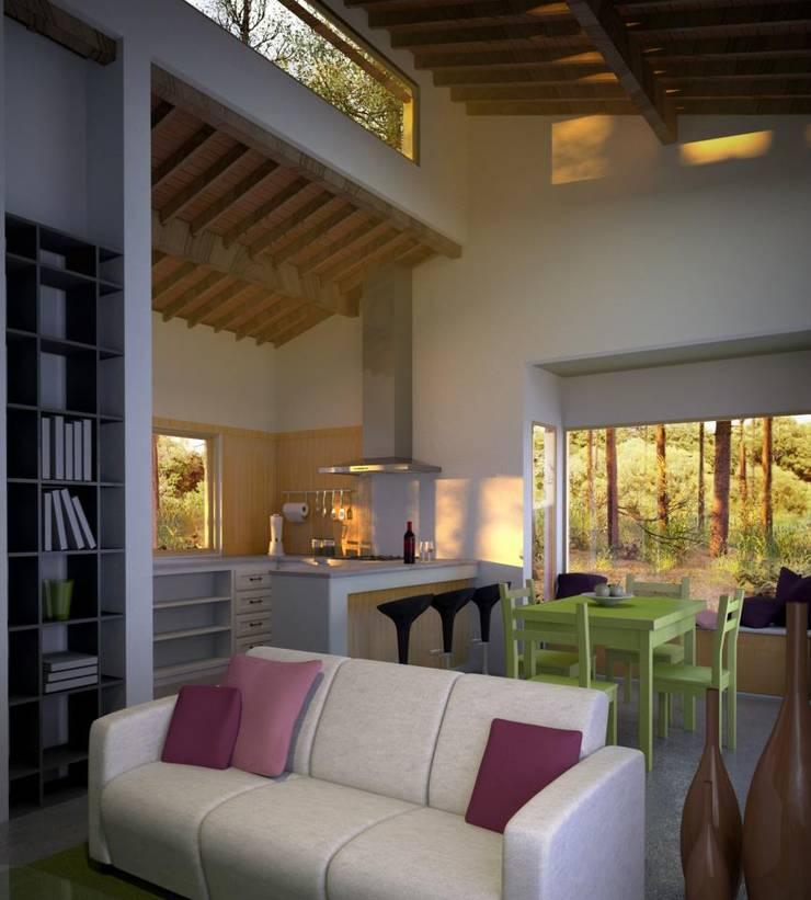 Casa en el Bosque:  de estilo  por BAA  Estudio de Arquitectura