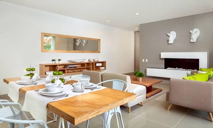 Fotografía de interiores: Salas de estilo  por Ambientes Visuales S.A.S