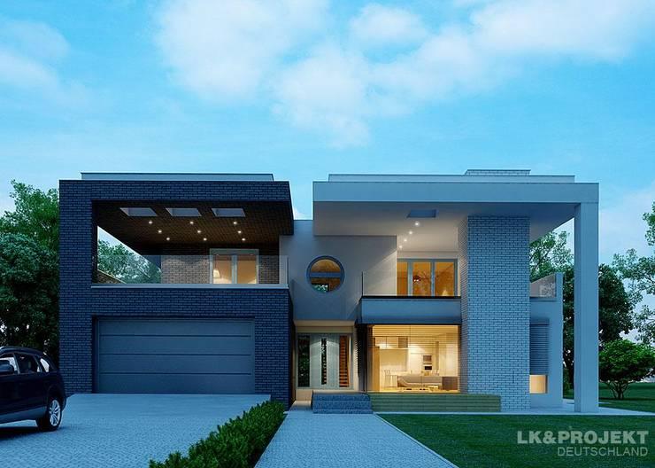 Das moderne Architektenhaus mit Flachdach:  Häuser von LK&Projekt GmbH