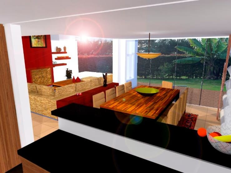 Portafolio de interiores:  de estilo  por PEPECARACAS DESIGN