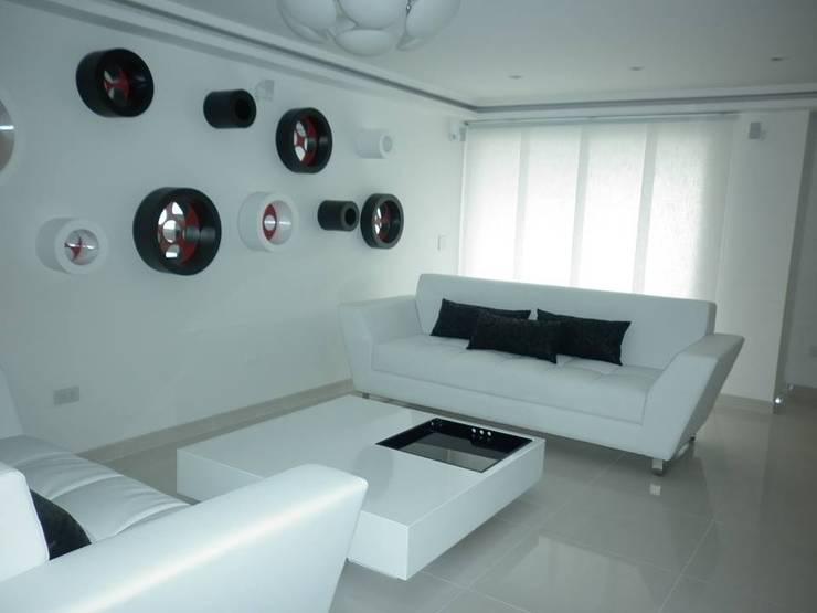 Trabajos variados: Salas de estilo  por Casa Bonita Diseño y Decoración